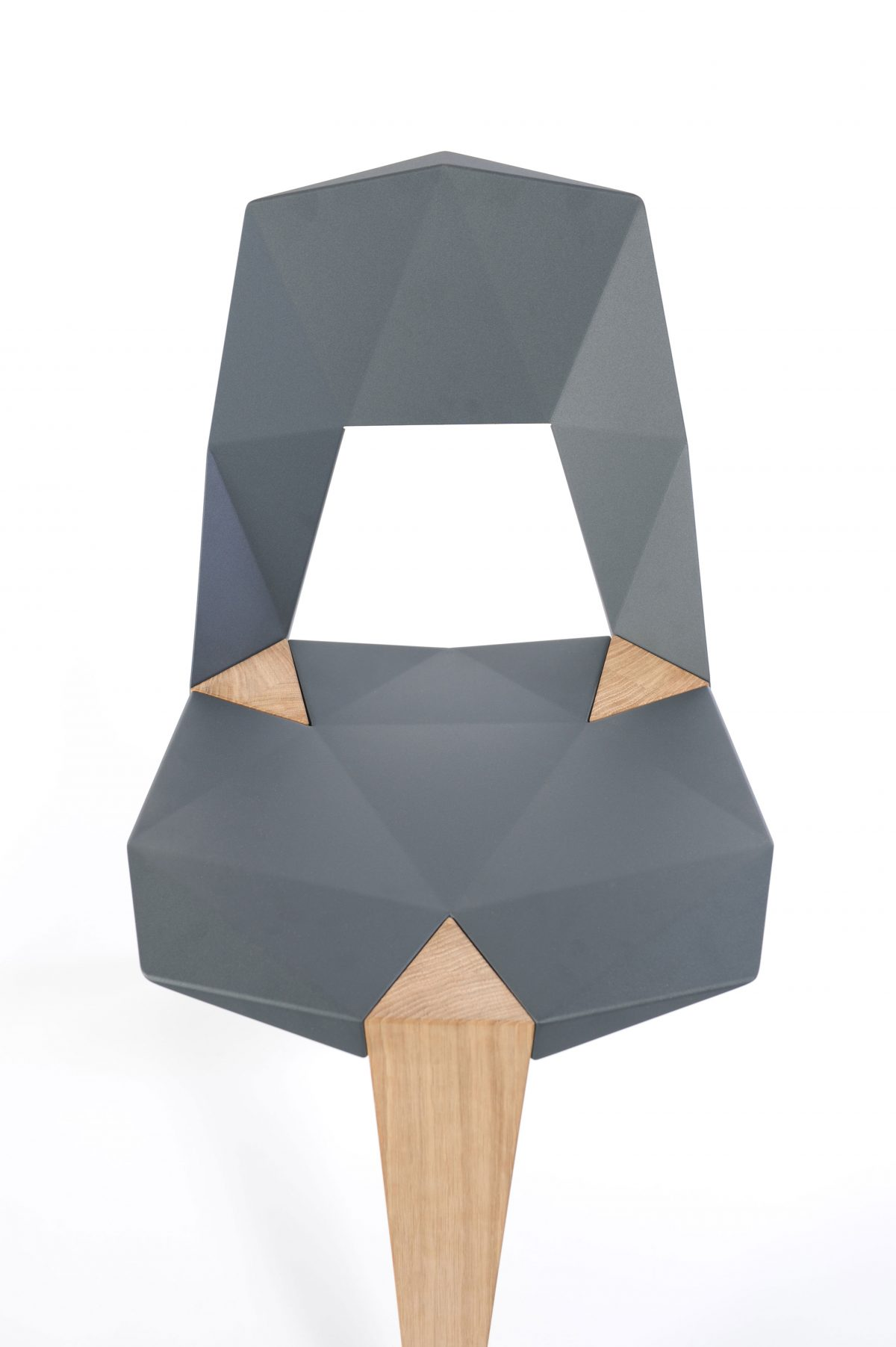 Pythagoras stoel antracietgrijs Sander Mulder