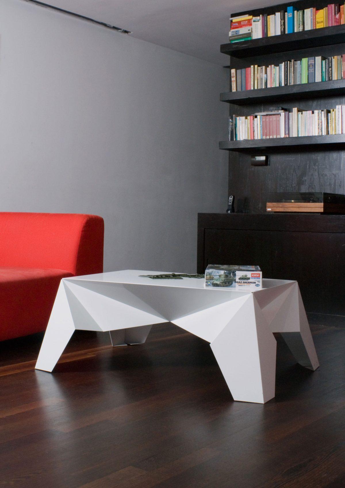 Sander Mulder Sputnik salontafel aluminium woonkamer
