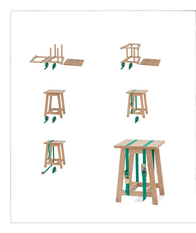 Strap stool Vij5 montage instructies