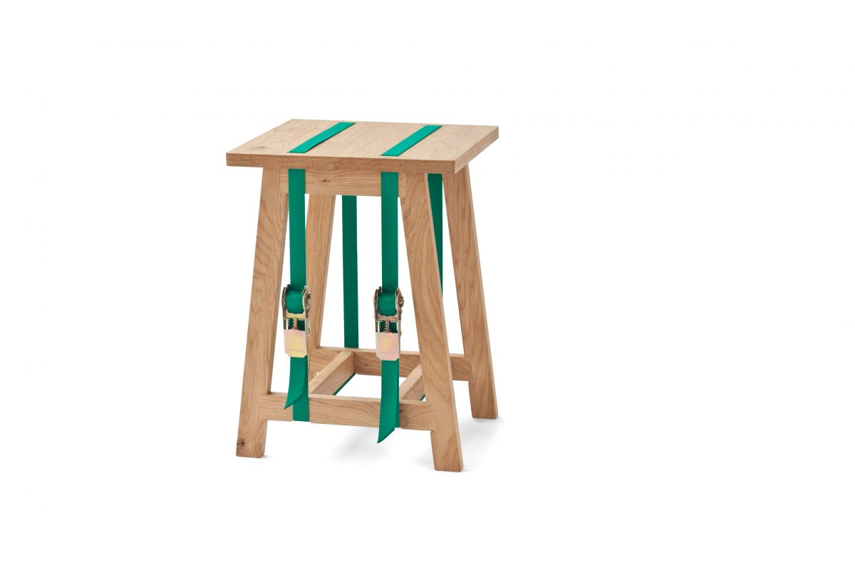 Vij5 Strap Stool kruk spanbanden groen