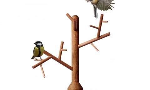 Vincent Bos Ontwerpen Vogelboom Garden Elements Tak GE301 met vogels
