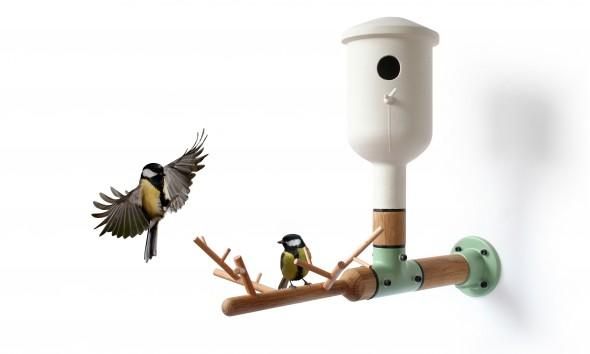 Vincent Bos Ontwerpen Vogelhuisje met Tak GE311