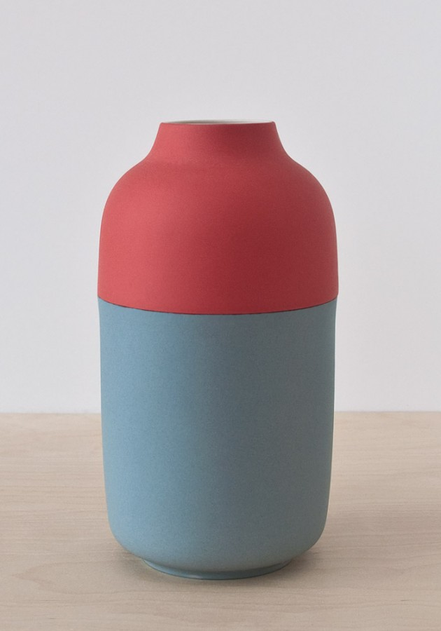 Colour vase porselein