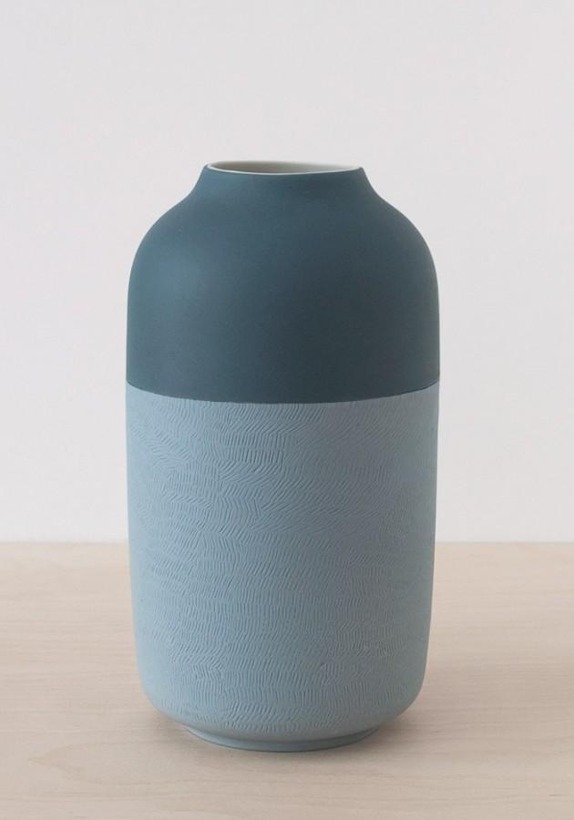 Surface vase terug naar basis van porselein