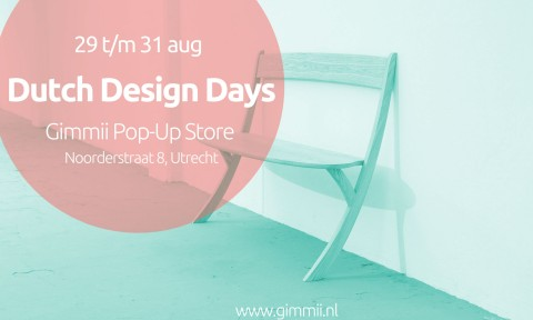 Gimmii Dutch Design Days pop up shop 29 t/m 31 augustus 2014 Utrecht #GimmiiDDD