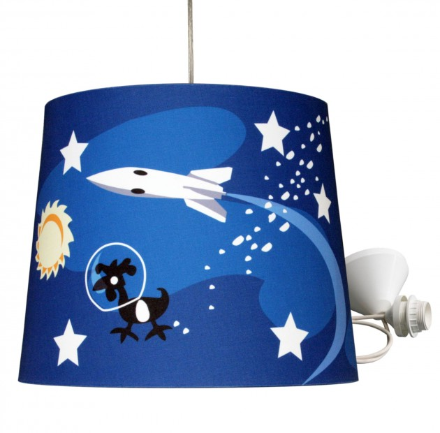VV5 kinderlamp- space blauw