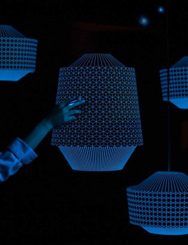 Loena lantern blauw verlichting Ontwerpduo
