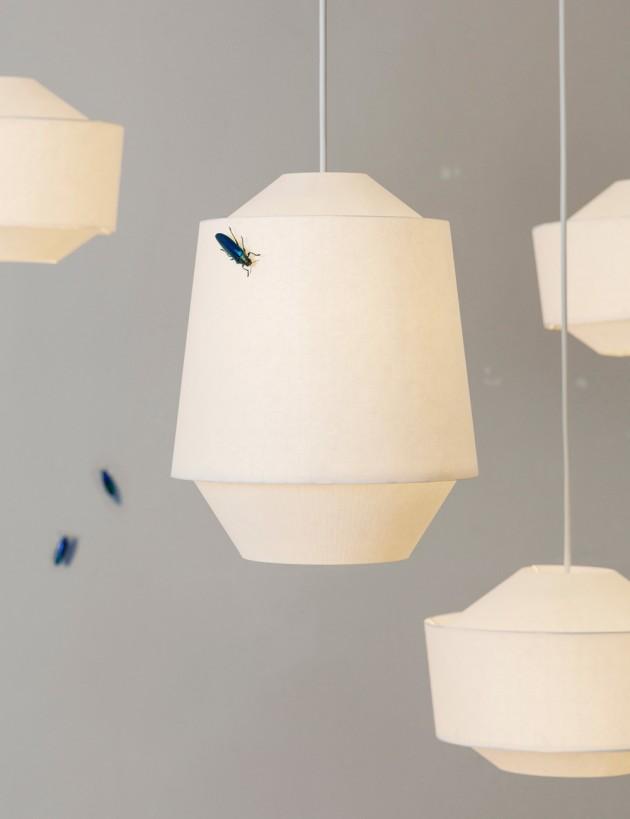 Ontwerpduo Loena lantern lamp papier
