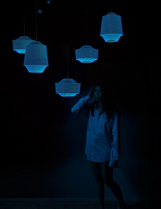 Ontwerpduo hanglampen Loena lantern