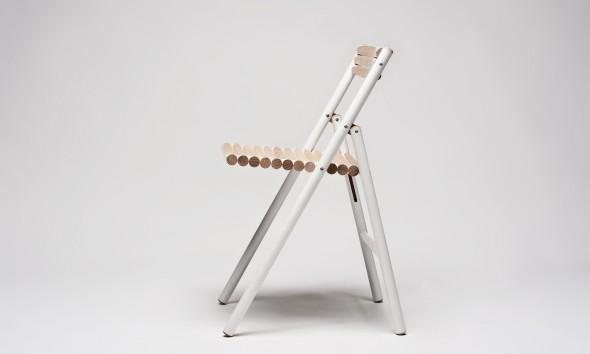 STEEL stoel van bezemstelen - Reinier de Jong