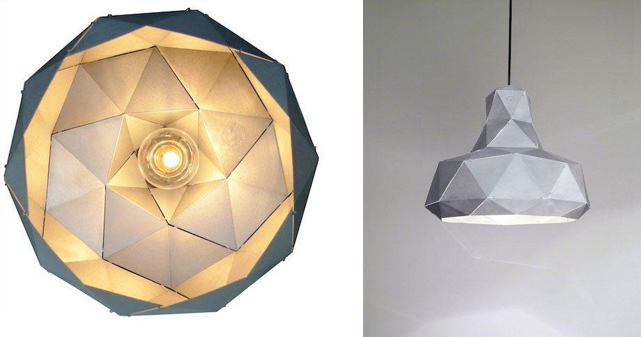 Helix lamp aluminium