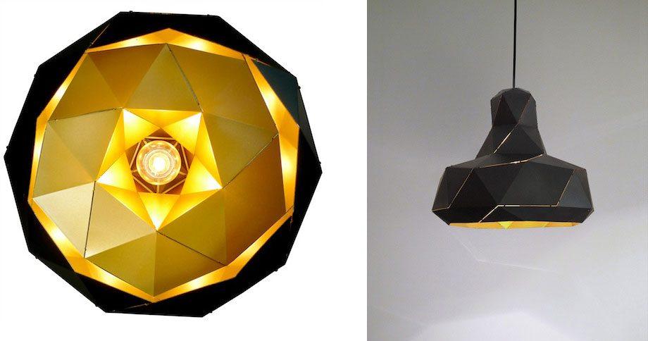 Helix lamp zwart-goud