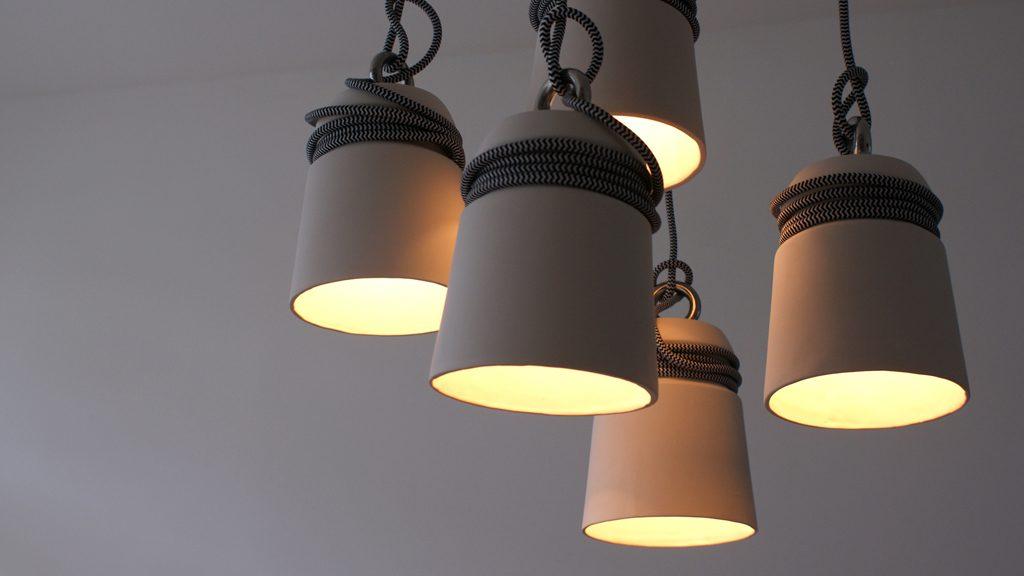 Cable lights hanglampen van Patrick Hartog
