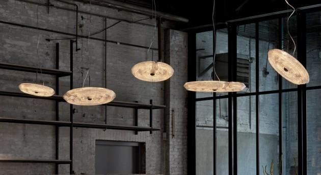 Fresnel Pendant Lights 45cm and 60cm by Dirk Vander Kooij Photo Ruud Balk