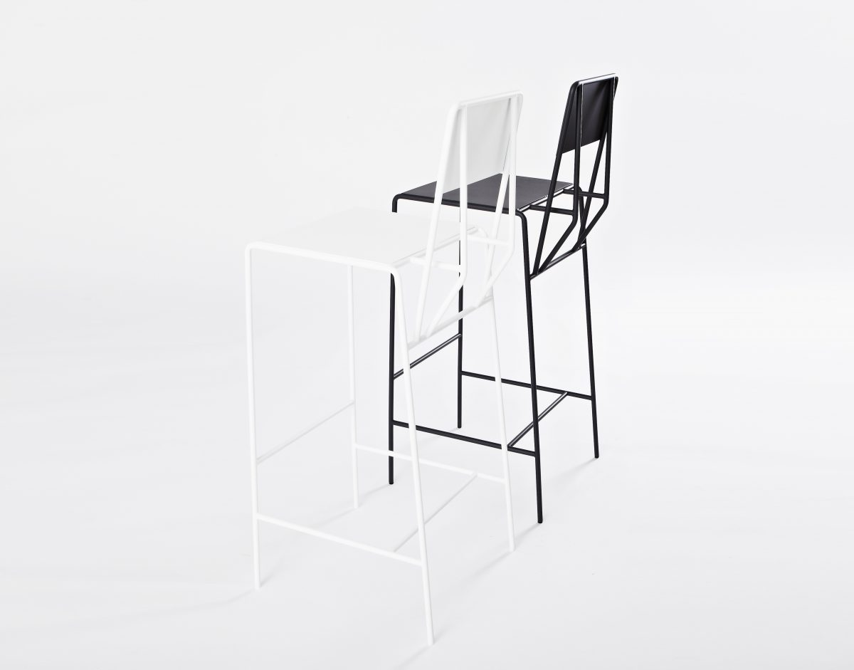 Hensen barstool black white Kranen Gille for New Duivendrecht