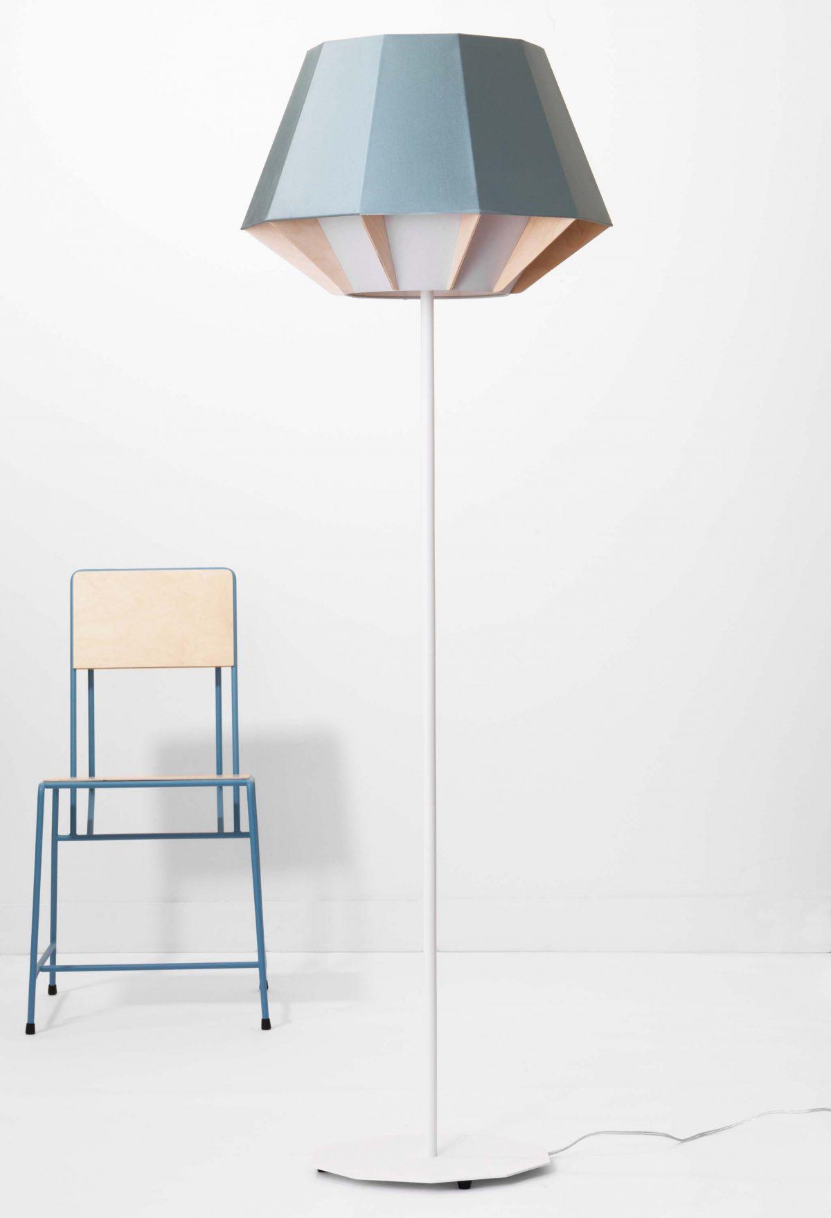 Polar lamp vloerlamp New Duivendrecht ontwerper Dave Keune