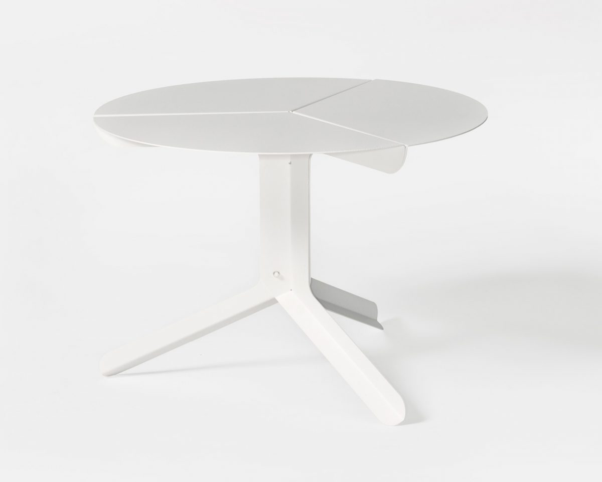 Frederik Roije New Duivendrecht sliced table low wit