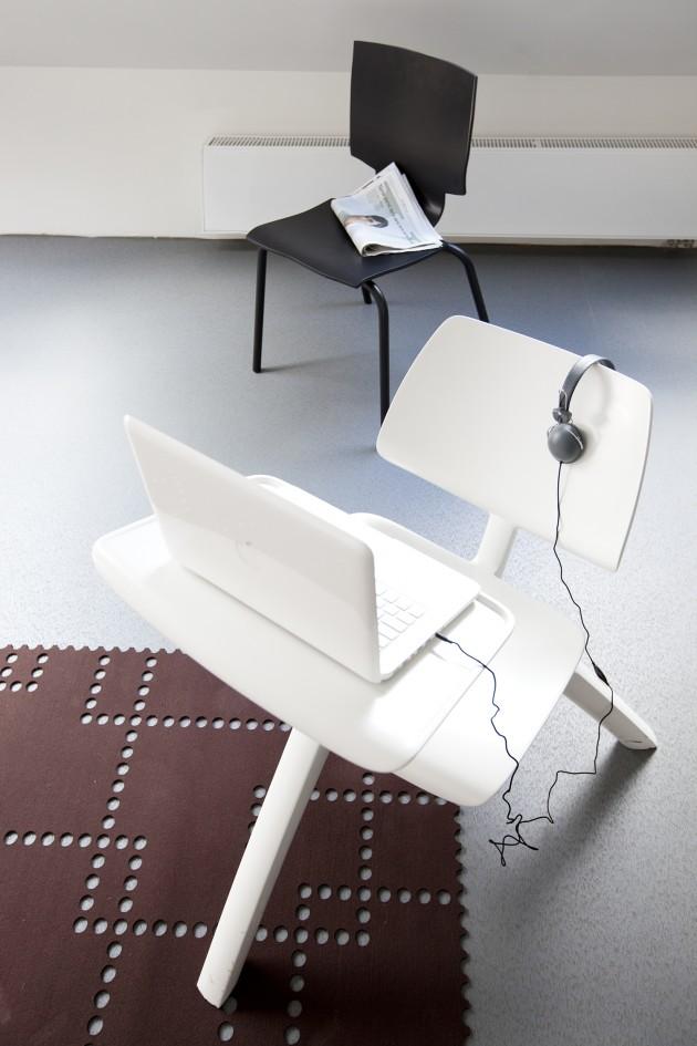 Gispen Huiswerk More or Less stoel zwart Maarten Baas