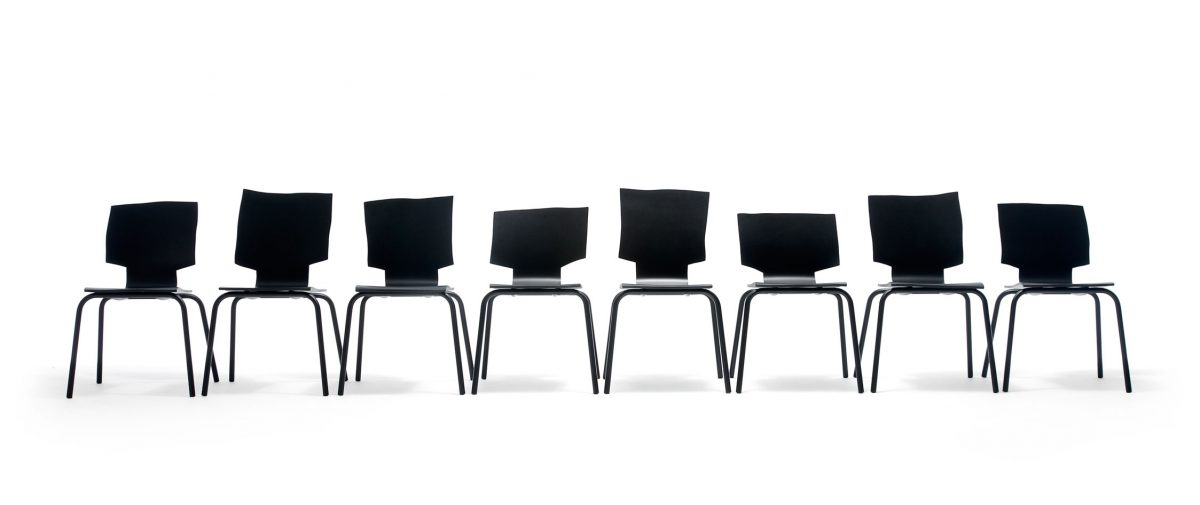 Gispen More or Less stoel serie van 8 uniek Maarten Baas