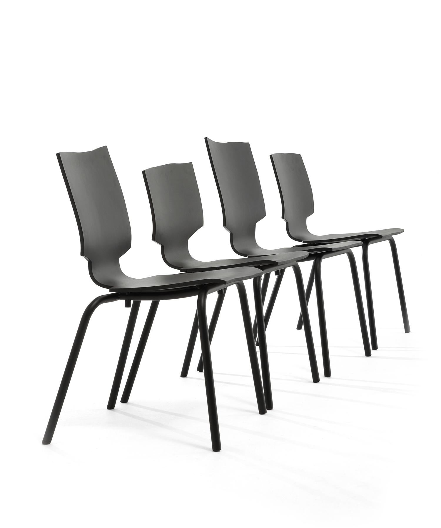 8 Zwarte Design Stoelen.Maarten Baas Gispen More Or Less Stoel Kopen Bestel Online Bij Gimmii