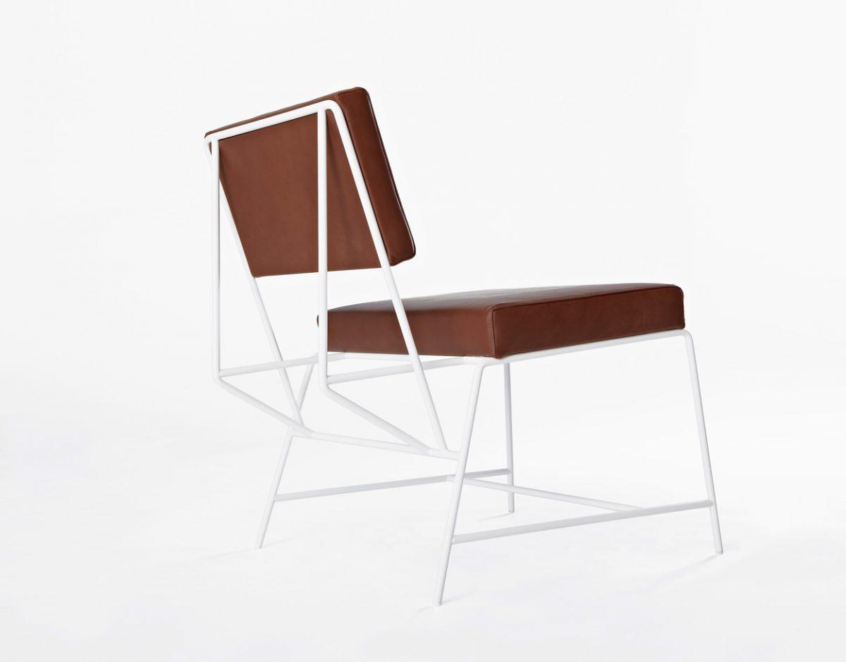 New Duivendrecht Hensen lounge chair leer bruin design Kranen/Gille