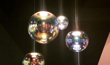 Een lichtgevende zeepbel