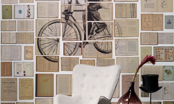 NLXL Bibliotheca wallpaper Ekatherina Panikanova