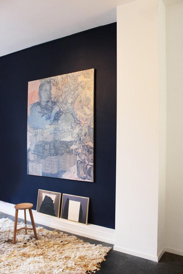OODE galerie Amsterdam tapijt Femke van Gemert schilderij Stichting Onterfd goed