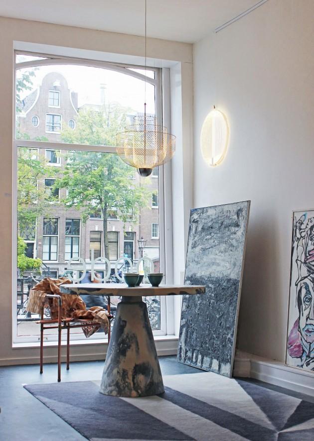OODE galerie tafel Dirk vander Kooij Amsterdam