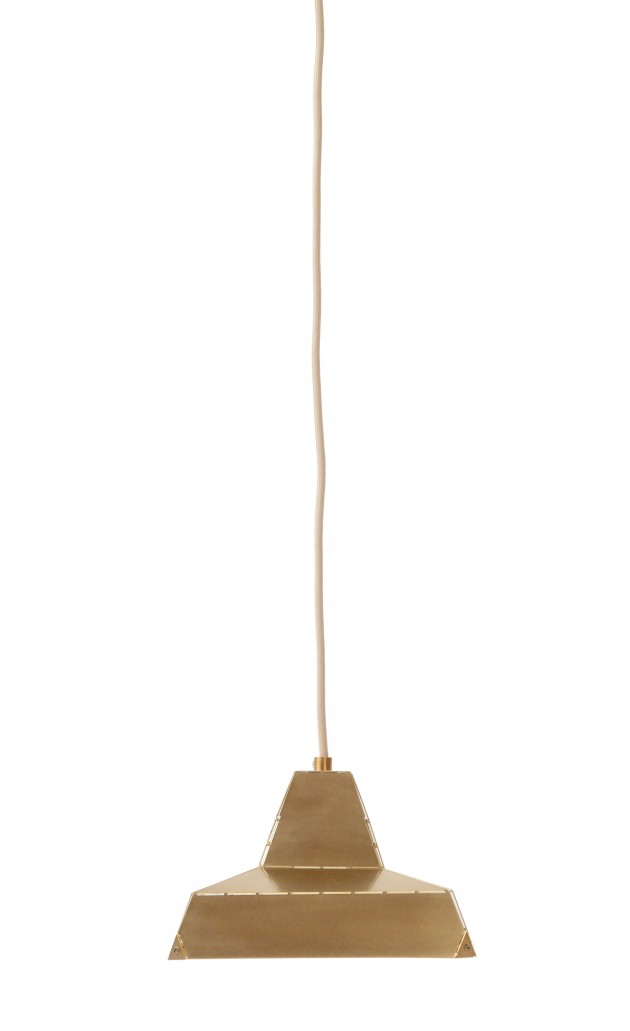 Vij5 Dashed Light brass 21cm designer Leon de Lange