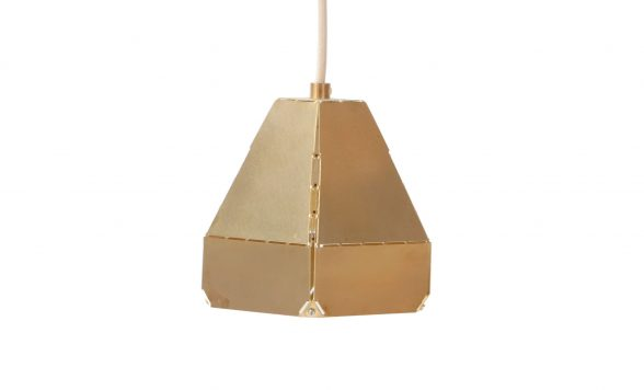Dashed lights brass hanglamp small