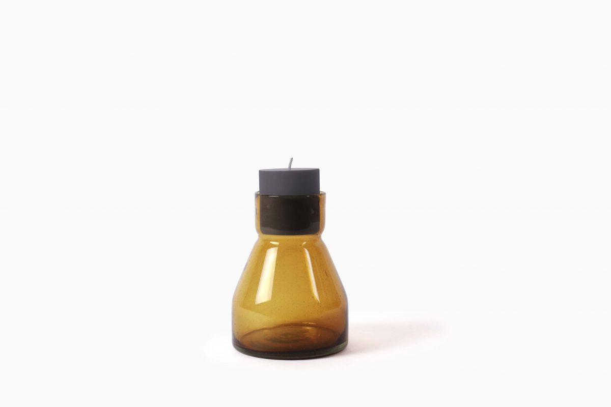 Candlestick L19 amber Imperfect Design
