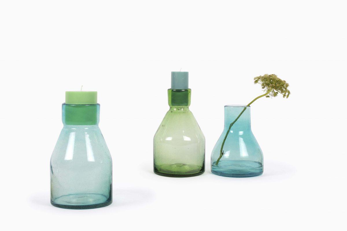Candlesticks Cantel glas vase Imperfect design