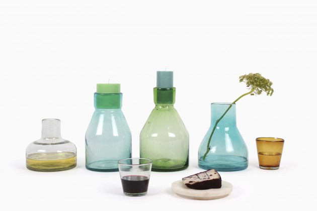 Cantel glas kandelaar vaas Imperfect design