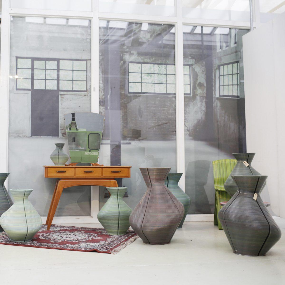 Changing Vases, Random Colored during the Dutch Design Week 2013. Photo Studio Dirk Vander Kooij