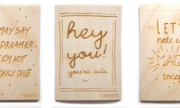 houten kaartjes MIEKinvorm