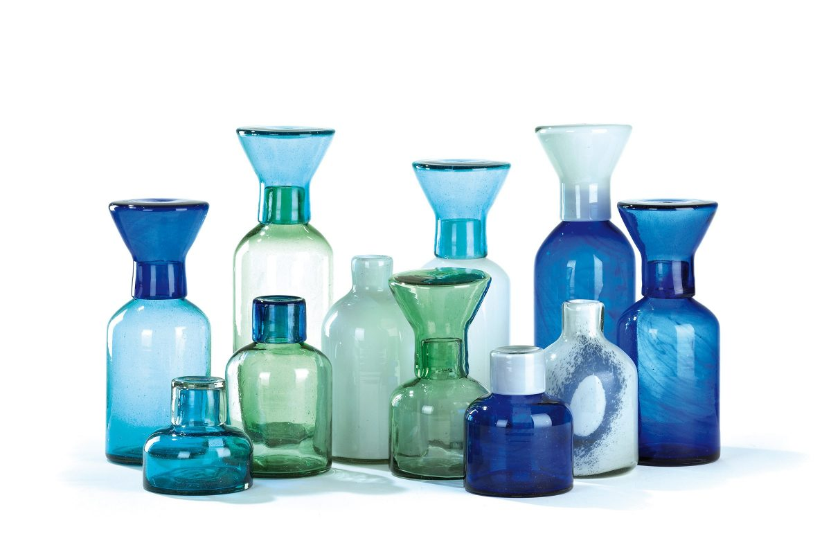 Glasscollection Cantel Vases with tops Imperfect Design