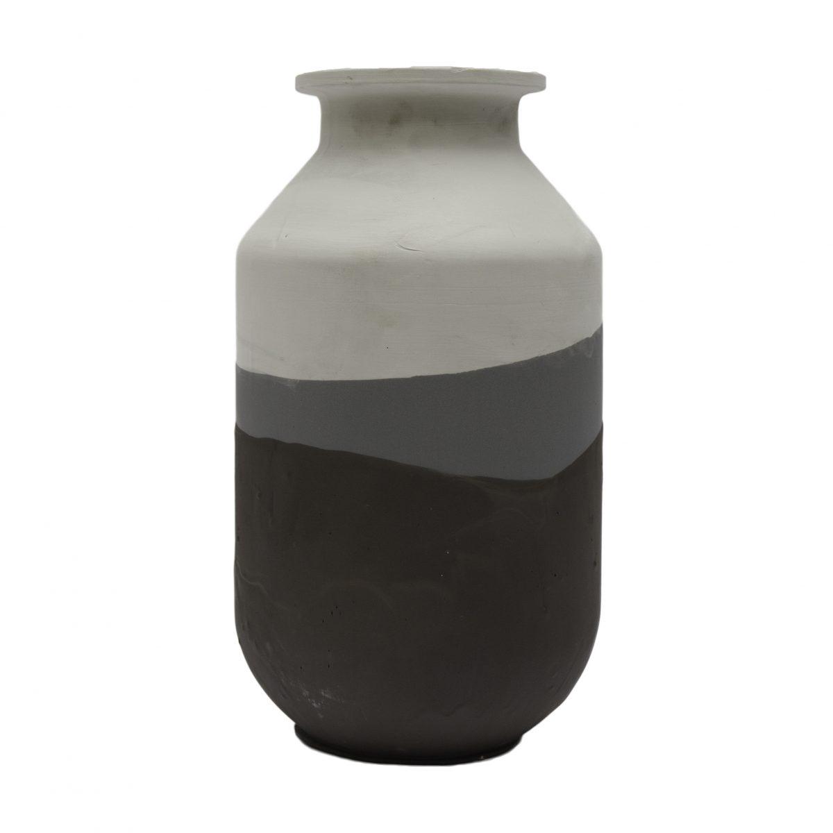 Jeroen Wand Plunge Vase Large Grey Cor Unum
