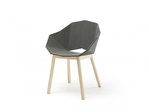 SEATSHELL UPHOLSTERED DARK NATURAL ASH 3D Frederik Roijé