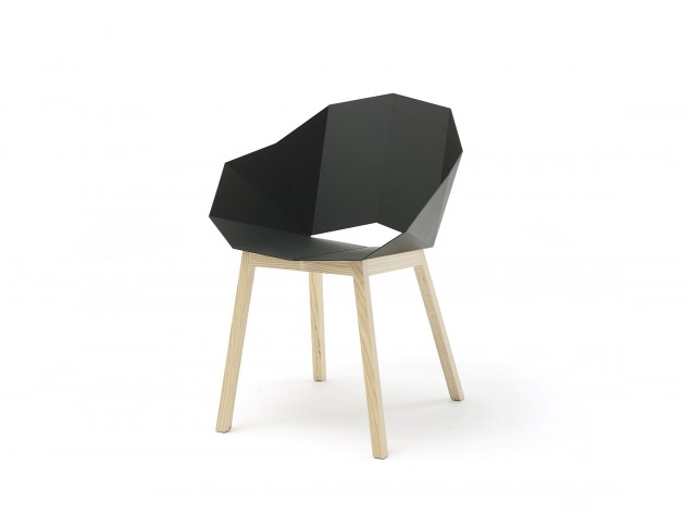 SEATSHELL armchair BASIC DARK NATURAL ASH 3D by Frederik Roijé
