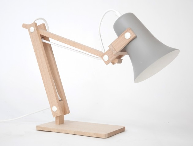 Trumpet lamp grijs -M.oss design