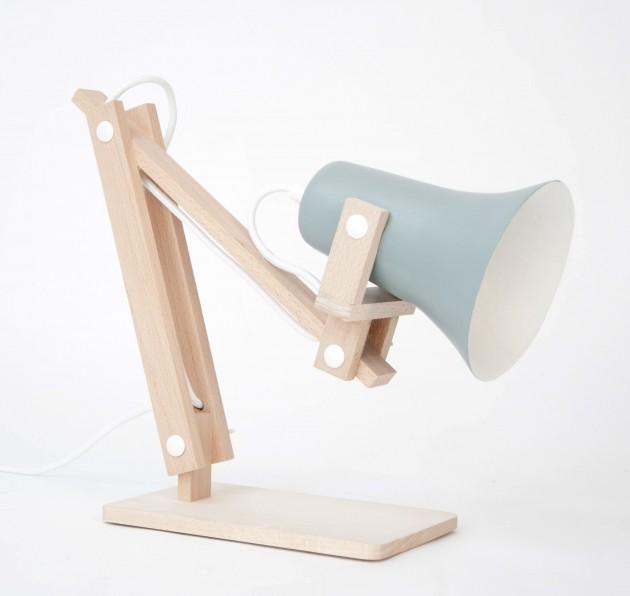 Trumpet tafellamp blauw - M.oss design