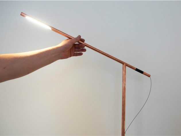 Copper Balance lamp studio Mieke Meijer