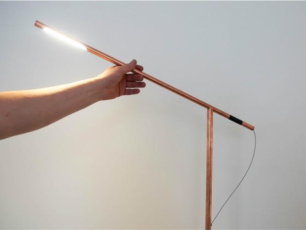 Copper Balance lamp studio Mieke Meijer