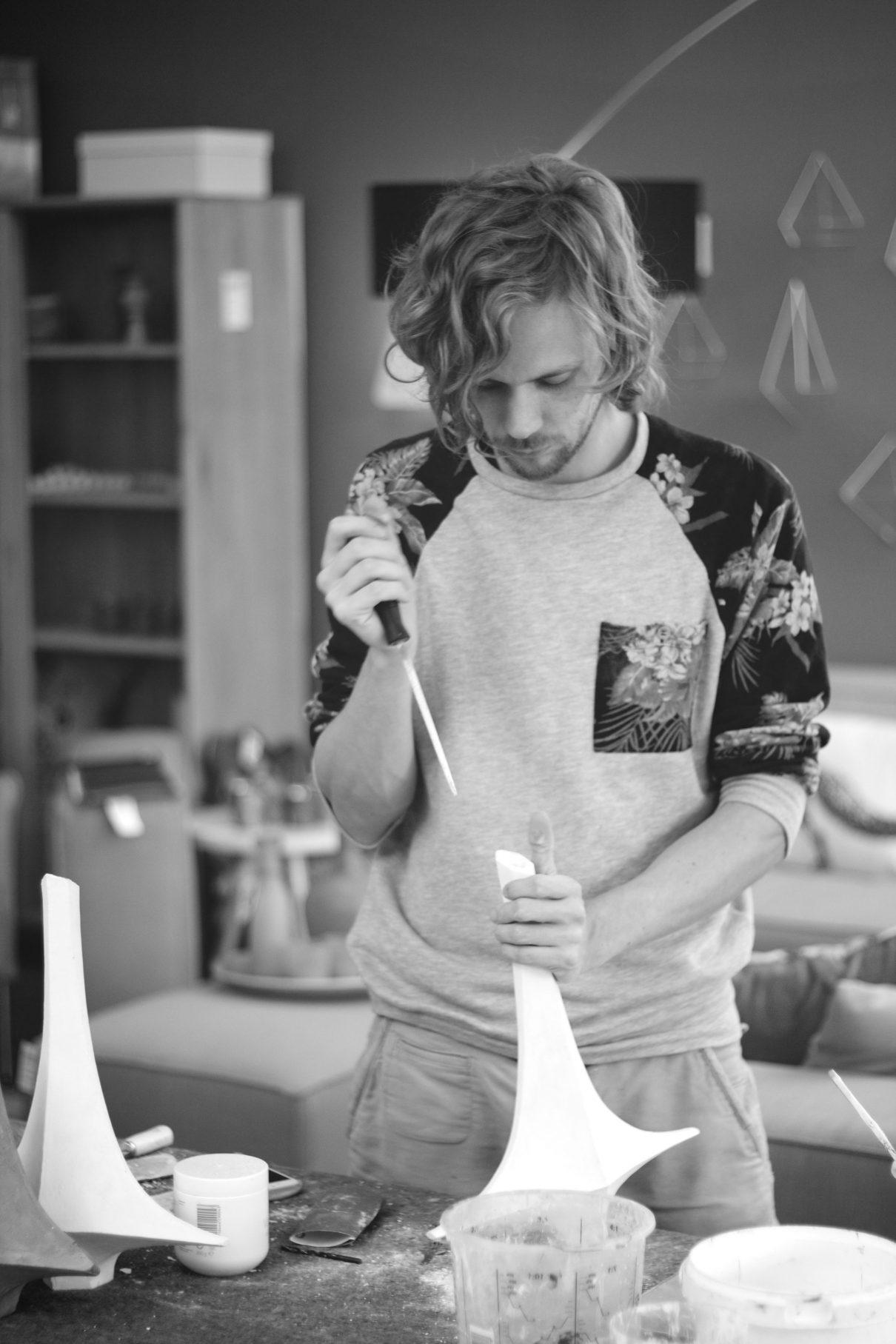 Architectonische Vase #1 van Atelier GertJan