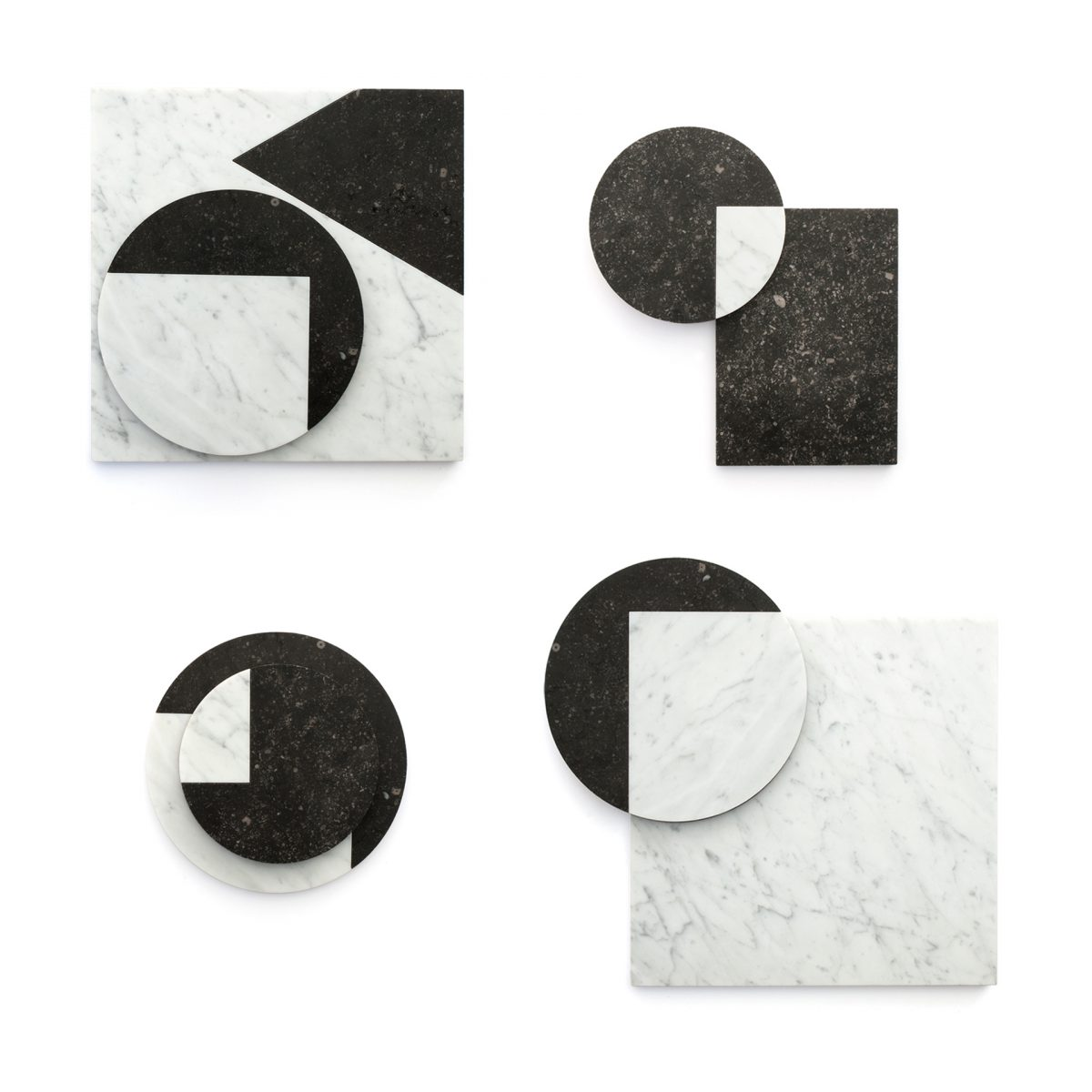 VENN VIEW marble set total geometric shapes Jorrit Taekema