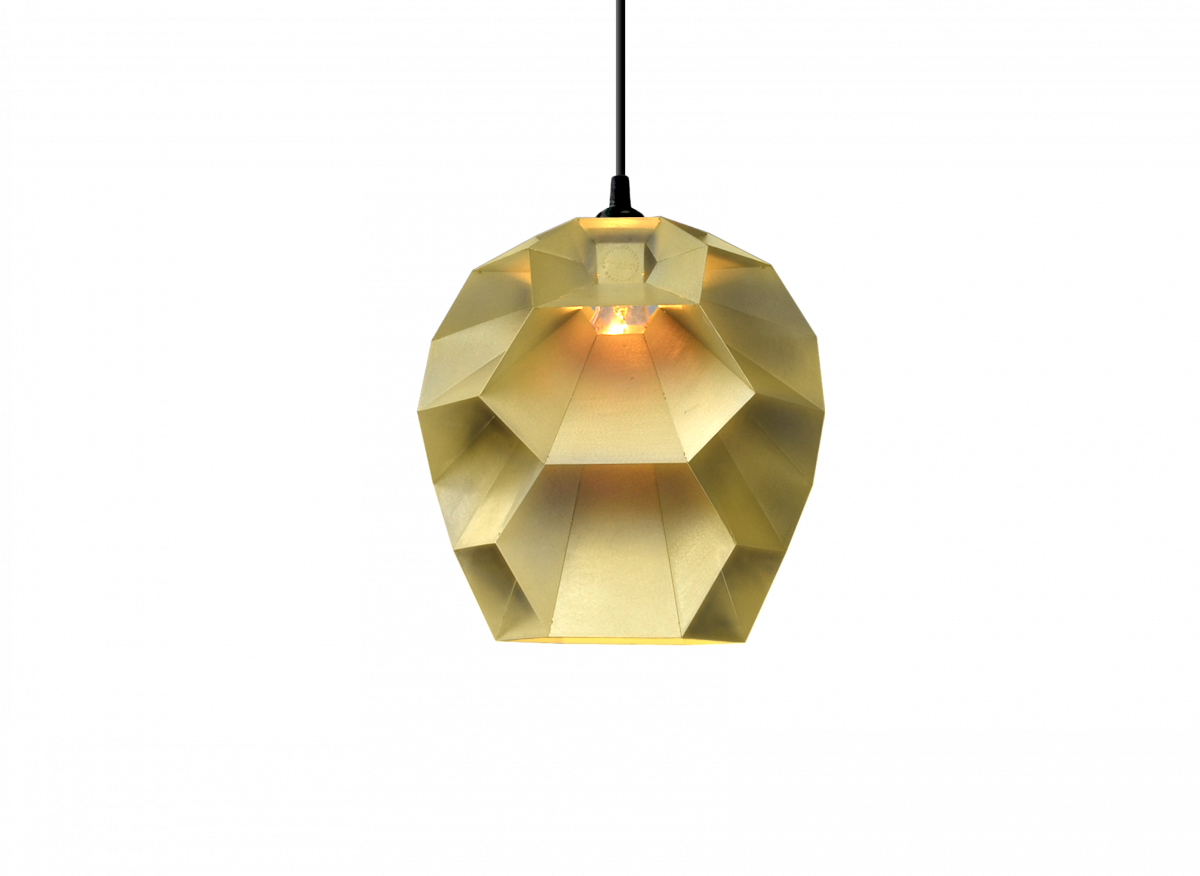 Beehive hanglamp messing