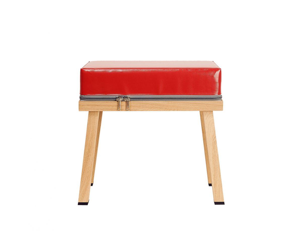 Kruk Truecolors stool red Visser Meijwaard