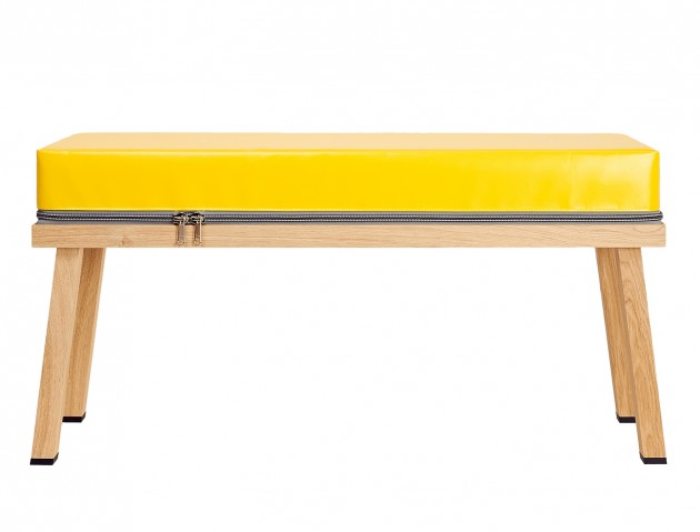 Truecolors bench yellow by Visser & Meijwaard