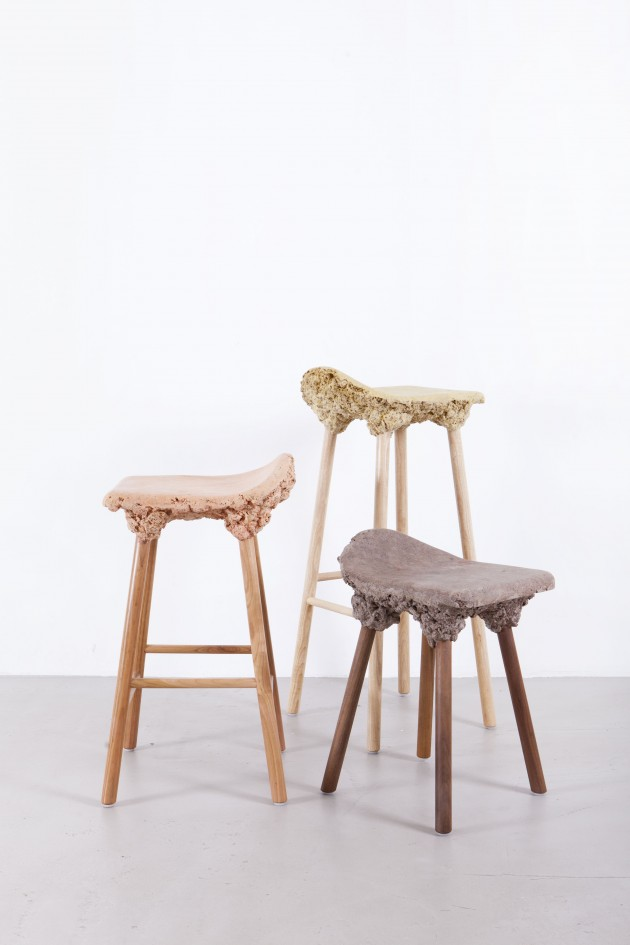 Transnatural krukken Well Proven Stools Marjan Van Aubel & James Shaw photo Floor Knaapen